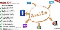 Facebook socialauth twitter login google linkedin