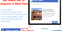Facebook viral quiz website panel admin with