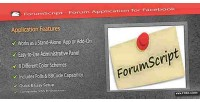 Forum forumscript facebook for application