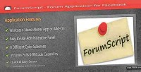 Forum forumscript facebook for application