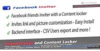 Friends facebook locker content inviter