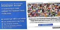 Friends facebook script application wallpaper