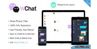 Fully wchat responsive chat ajax php