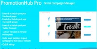Hub promotion pro manager campaign social