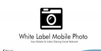 Label white mobile photo