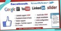 Likebox facebook twitter slider