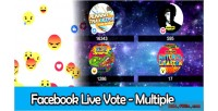 Live facebook multiple vote reactions