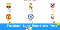 Live facebook reactions