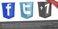 Lock php like google 1, unlock to tweet lock