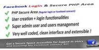 Login facebook area php secure