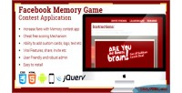 Memory facebook application contest game