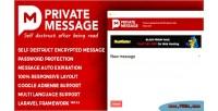 Message private php script