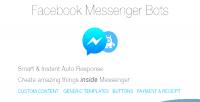 Messenger facebook php for bots
