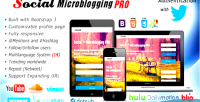Microblogging social pro