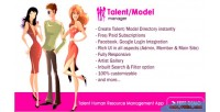 Model talent hr manager
