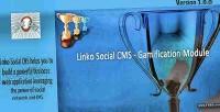 Module gamification for cms social linko