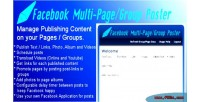 Multi facebook poster group page