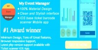 My event manager 100 material design backend with easy integration wordpress in