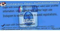 Oauth instagram integration db login