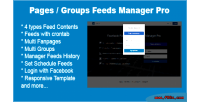 Pages facebook groups pro manager feeds