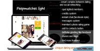 Peepmatches light php dating script social and