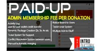 Peer paidup to peer membership donation system transaction fee