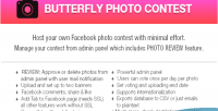 Photo butterfly application facebook contest