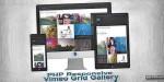 Php responsive gallery grid vimeo