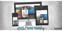 Php responsive gallery grid vimeo