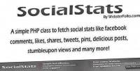Php socialstats class