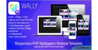 Php wally wallpapers template web php parse