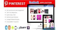 Pinterest facebook responsive application