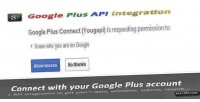 Plus google connect integration api and