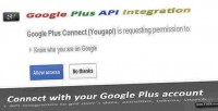 Plus google connect integration api and