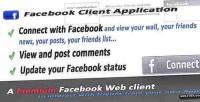 Premium facebook client application