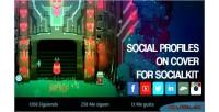 Profiles social on socialkit for cover