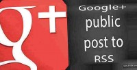 Public google profile rss to post