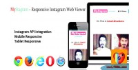 Responsive mystagram viewer web instagram