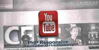 Php responsive youtube channel gallery video grid