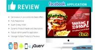 Reviews facebook responsive application