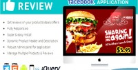 Reviews facebook responsive application