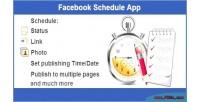 Schedule facebook app