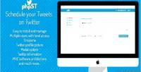 Schedule phpst your twitter on tweets