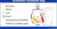 Schedule post to pages facebook multiple