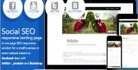 Seo social responsive facebook page landing