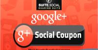 Sharer social coupon social google