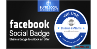 Sharer social facebook badge