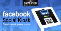 Sharer social facebook coupon kiosk