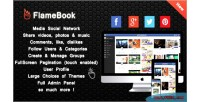 Sharing flamebook network social media