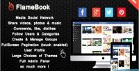Sharing flamebook network social media